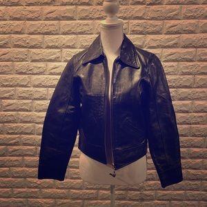 Coach black leather jacket